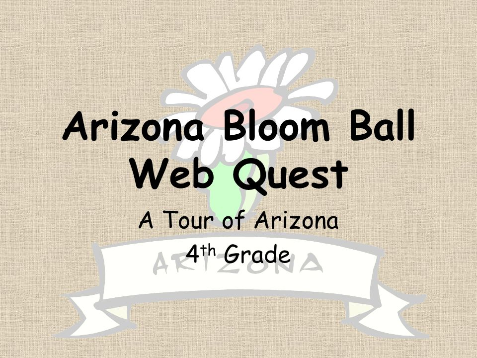 Arizona Bloom Ball Web Quest A Tour of Arizona 4 th Grade