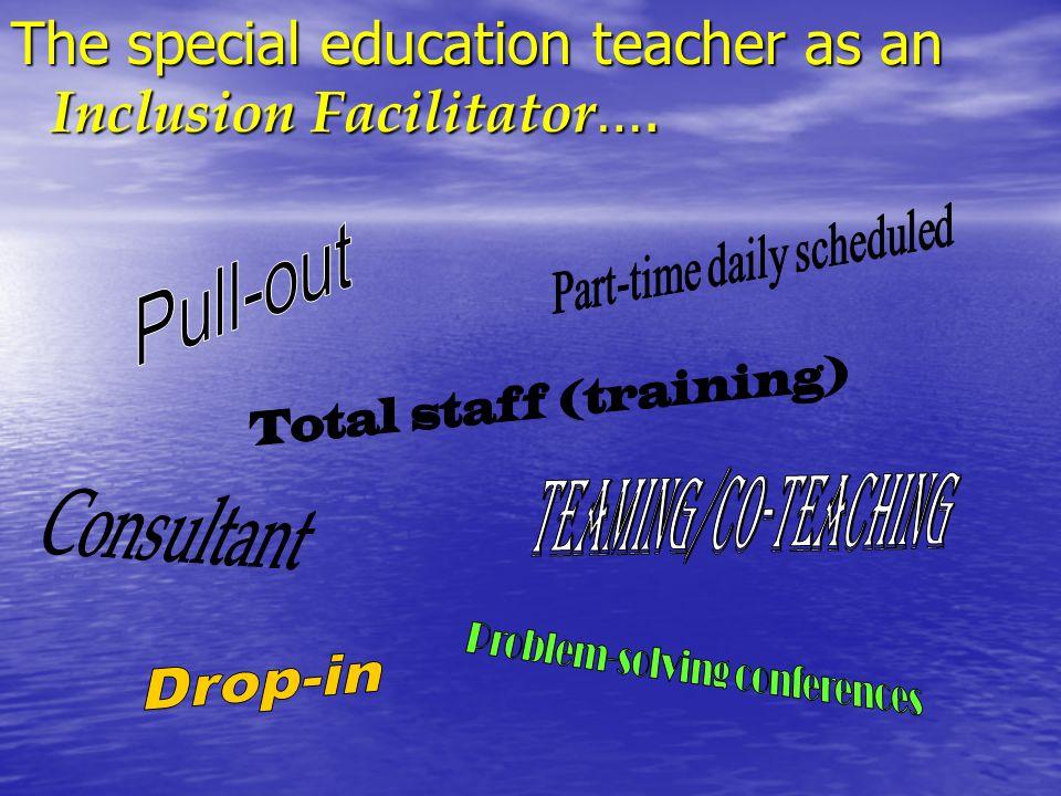 The special education teacher as an Inclusion Facilitator ….