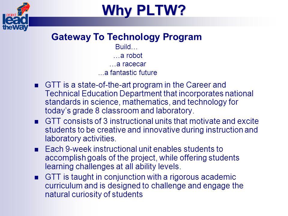 Why PLTW.