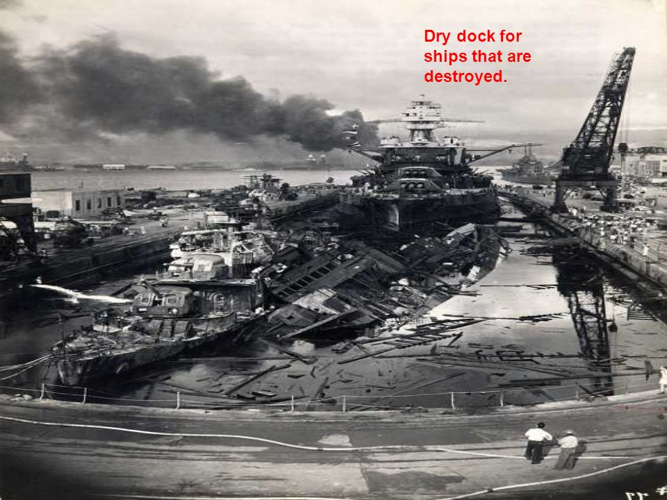 Dry dock for ships that are destroyed.