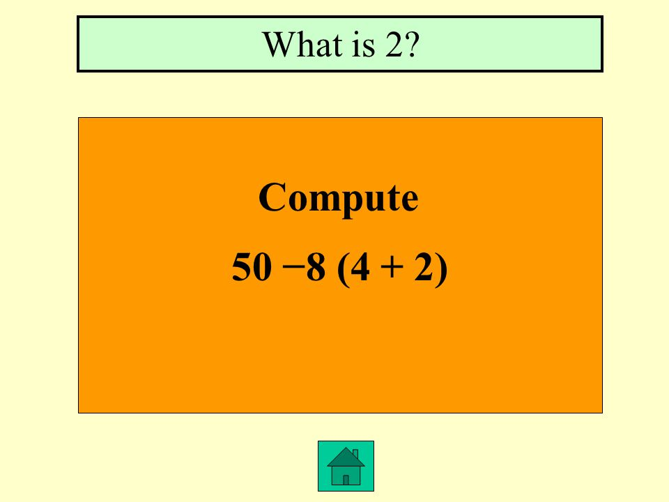 Give an algebraic expression for 2 less than y What is y 2