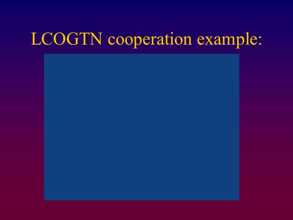 LCOGTN cooperation example: