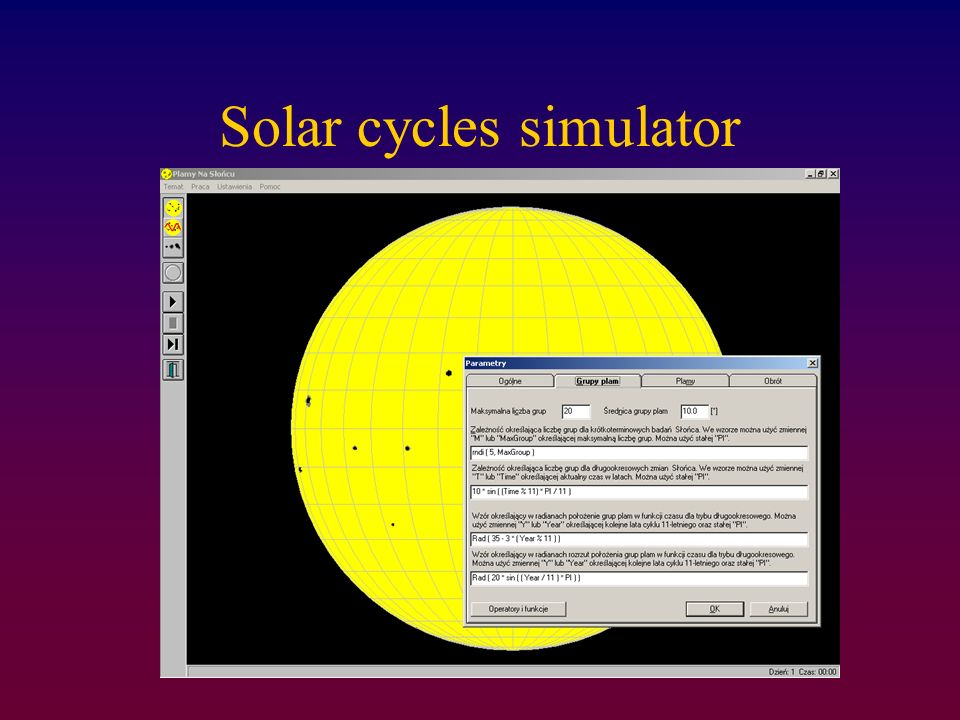 Solar cycles simulator