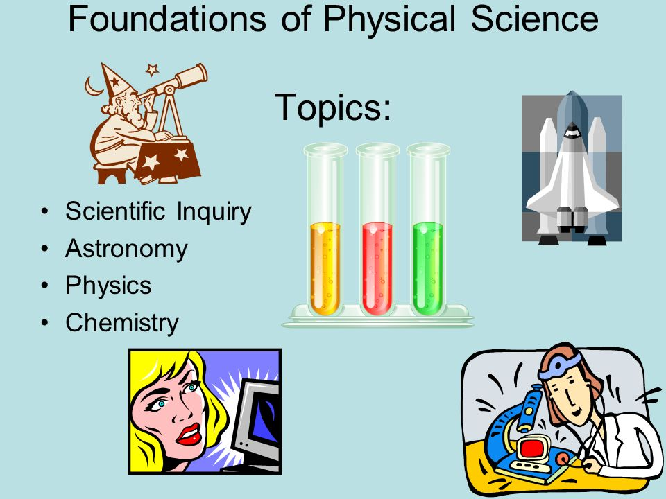 Foundations of Physical Science Topics: Scientific Inquiry Astronomy Physics Chemistry