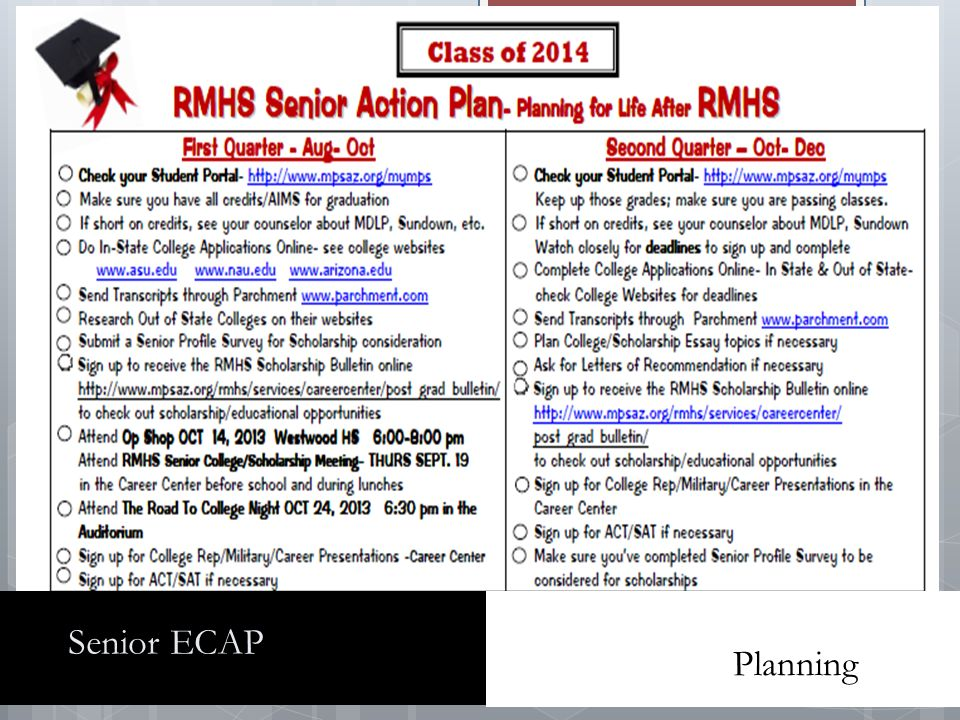 Senior ECAP Planning