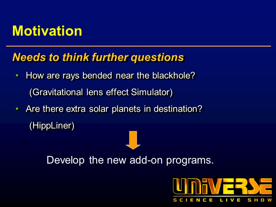 Motivation Needs to think further questions How are rays bended near the blackhole?How are rays bended near the blackhole? (Gravitational lens effect