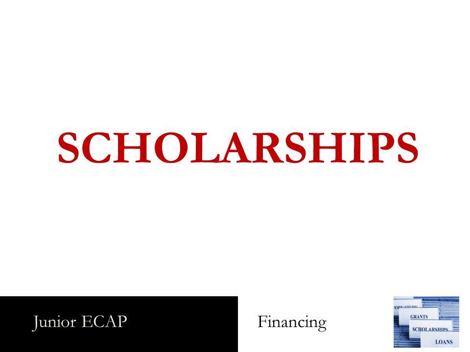 Junior ECAP Financing SCHOLARSHIPS