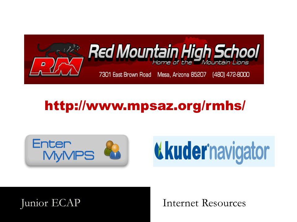 Junior ECAP Internet Resources http://www.mpsaz.org/rmhs/