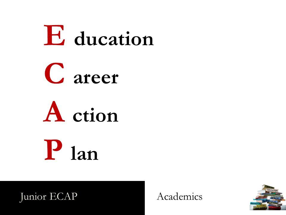 Junior ECAP Academics E ducation C areer A ction P lan