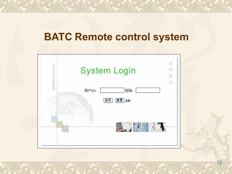 12 BATC Remote control system