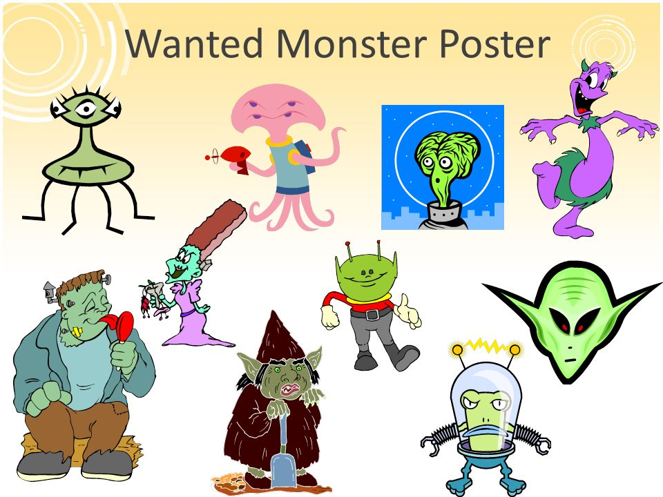 Wanted Monster Poster