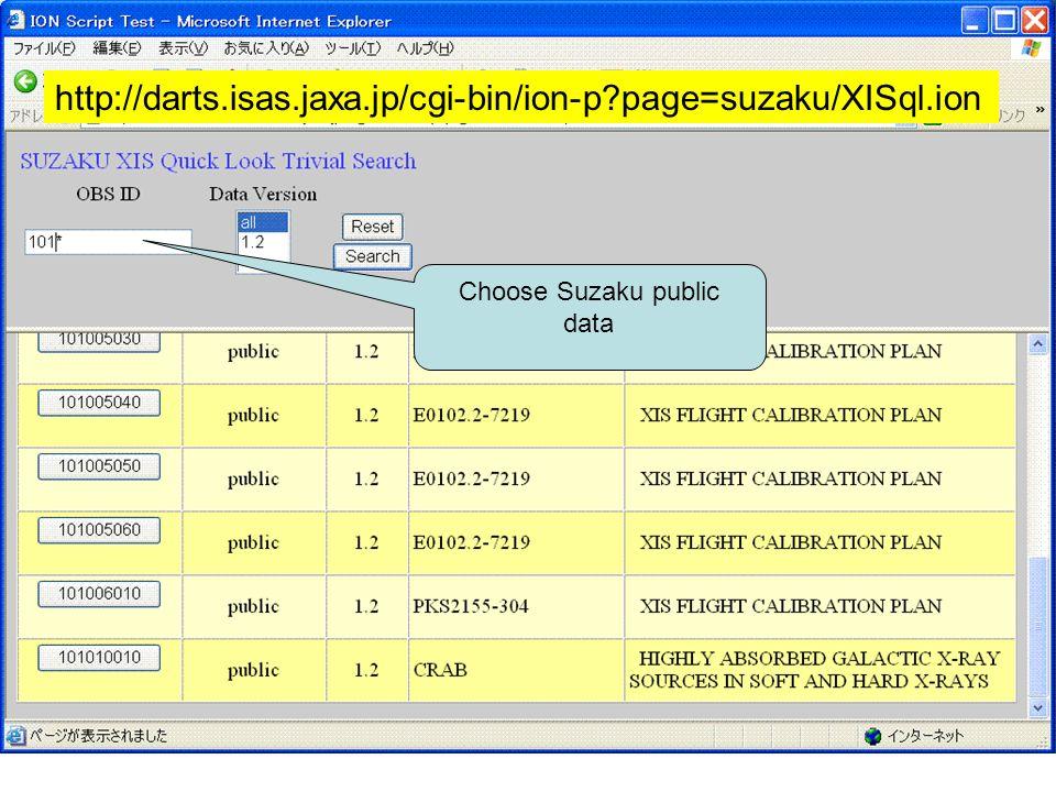 13 Choose Suzaku public data http://darts.isas.jaxa.jp/cgi-bin/ion-p page=suzaku/XISql.ion