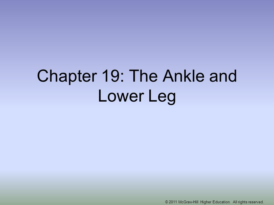 Chapter 19: The Ankle and Lower Leg © 2011 McGraw-Hill Higher Education. All rights reserved.