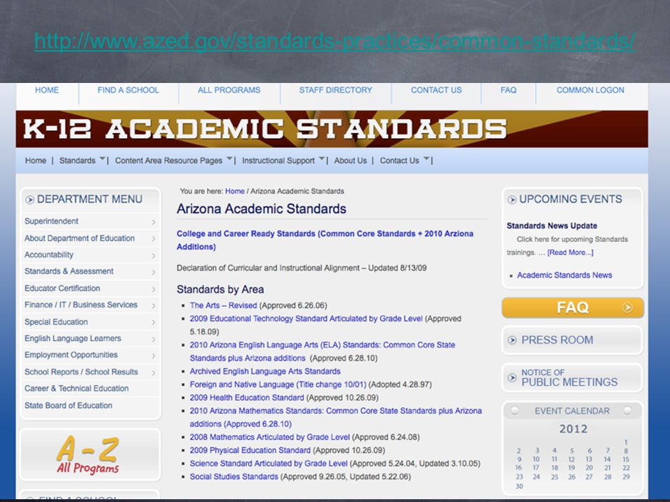 http://www.azed.gov/standards-practices/common-standards/