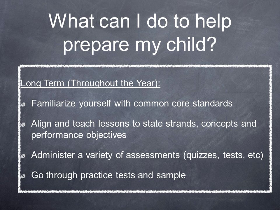 What can I do to help prepare my child.