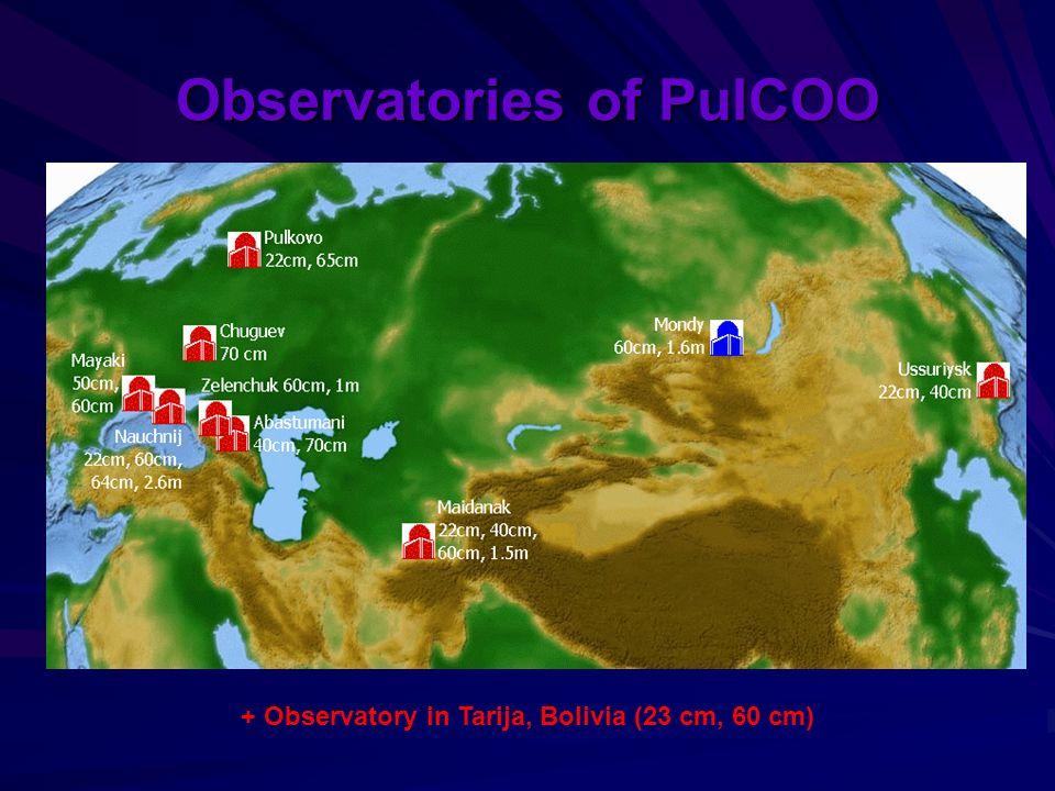 Observatories of PulCOO + Observatory in Tarija, Bolivia (23 cm, 60 cm)