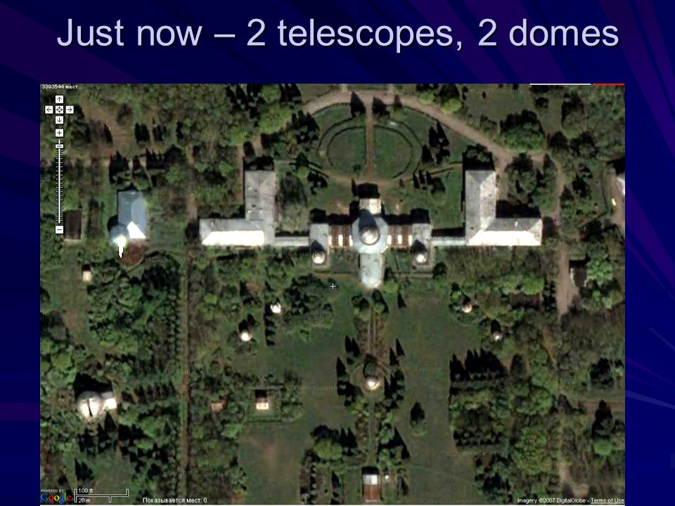 Just now – 2 telescopes, 2 domes