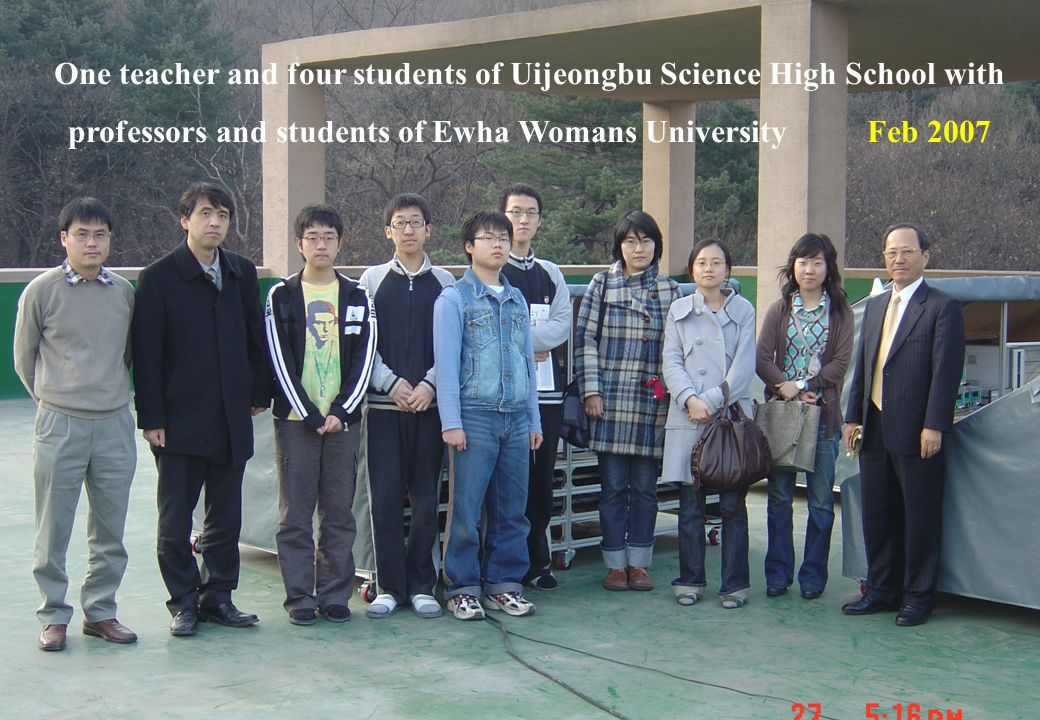 18 DSC09457 One teacher and four students of Uijeongbu Science High School with professors and students of Ewha Womans University Feb 2007