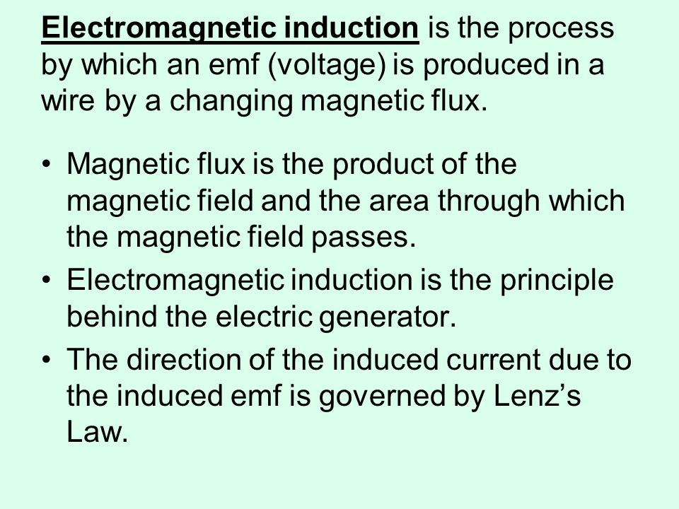 Here is a visual model of what we did in chapter 19: Loop of wire and an External magnetic field Input Current Output Force (wire moves) Electric Motor