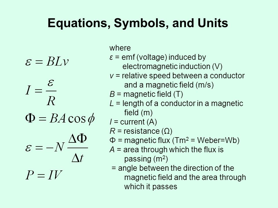 The last example led to the equation for the motional emf.