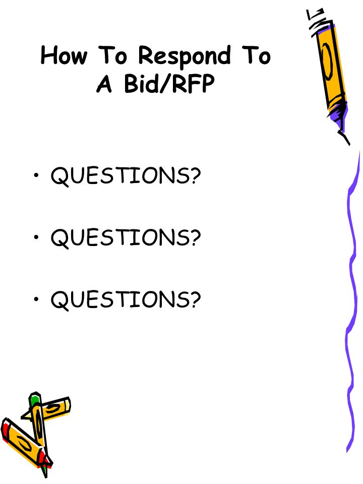 How To Respond To A Bid/RFP QUESTIONS?