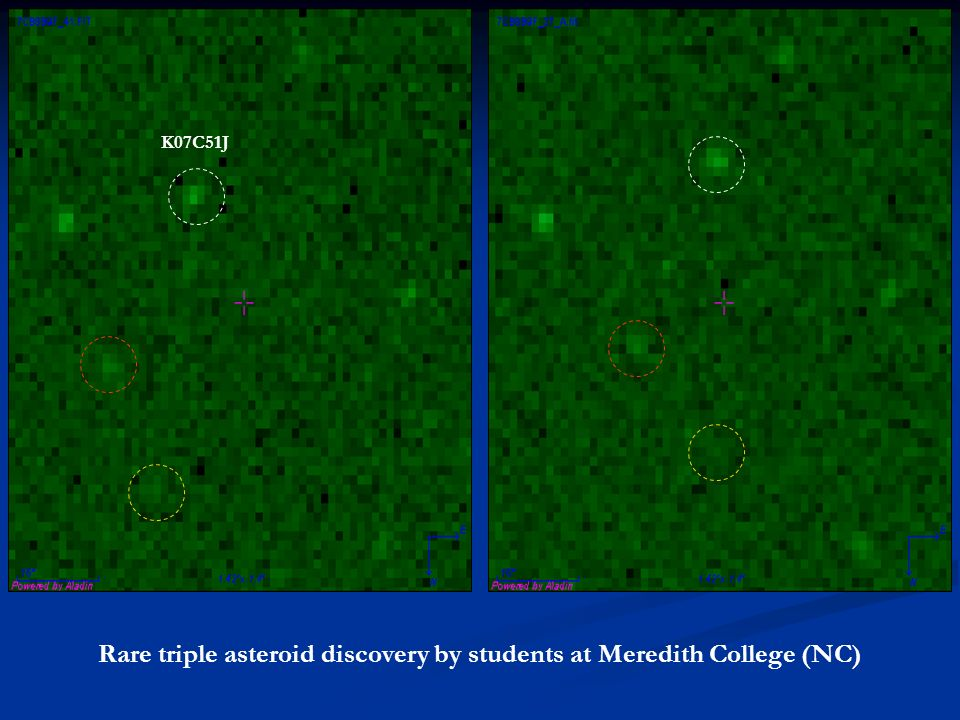 Rare triple asteroid discovery by students at Meredith College (NC) K07C51J