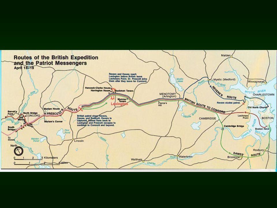 Battle of Lexington 4/19/1775, 1 st Shots of the American Revolution.