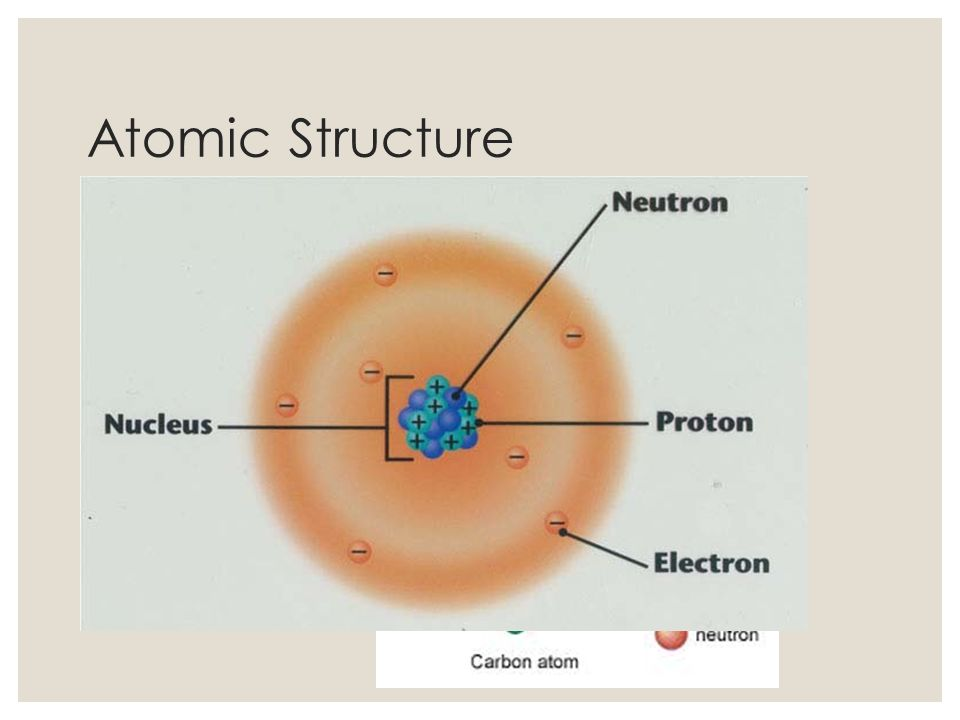 Atomic Structure Atoms Nucleus (Protons (+) and Neutrons (n 0 )) Electrons (-) (found in electron cloud around nucleus)