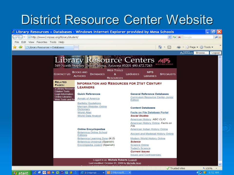 District Resource Center Website
