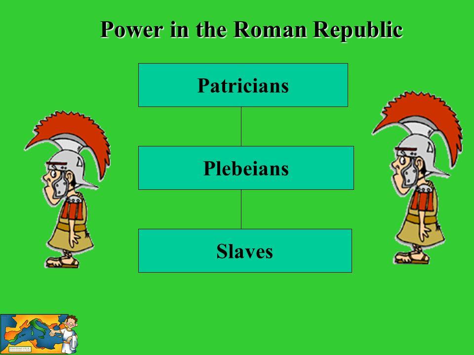 Patricians Plebeians Slaves Power in the Roman Republic