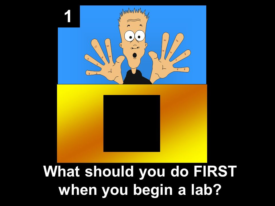 1 What should you do FIRST when you begin a lab?