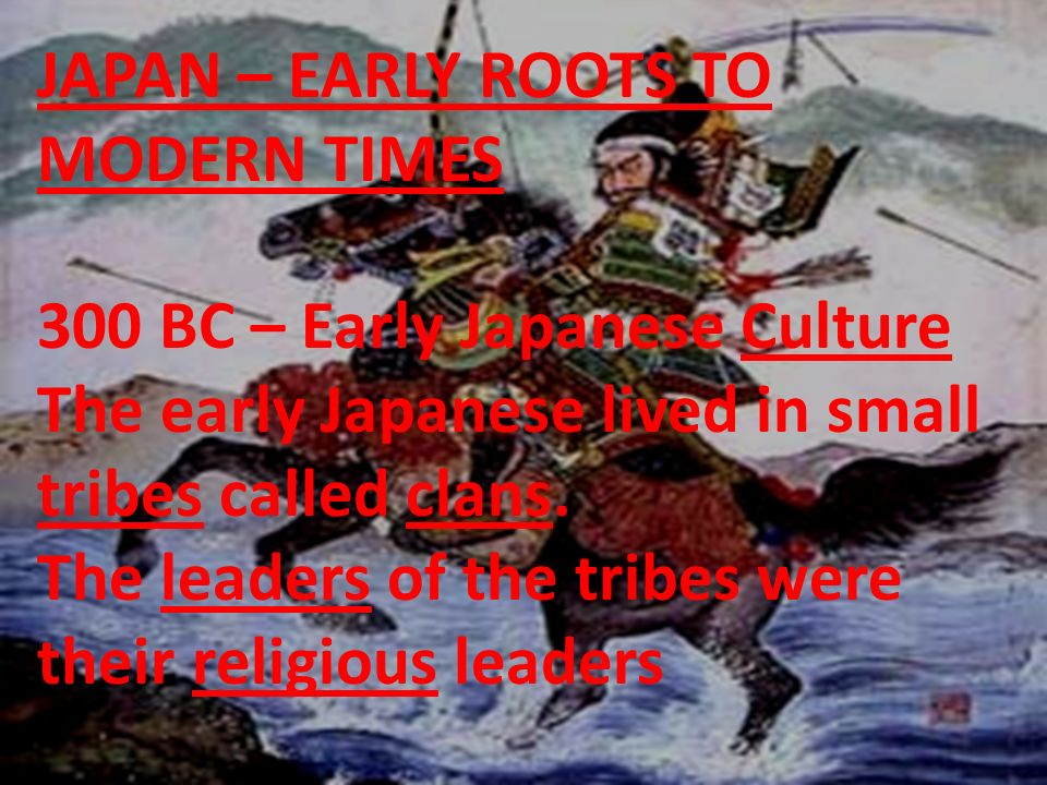 Their religion was Shinto which means the way of the gods.