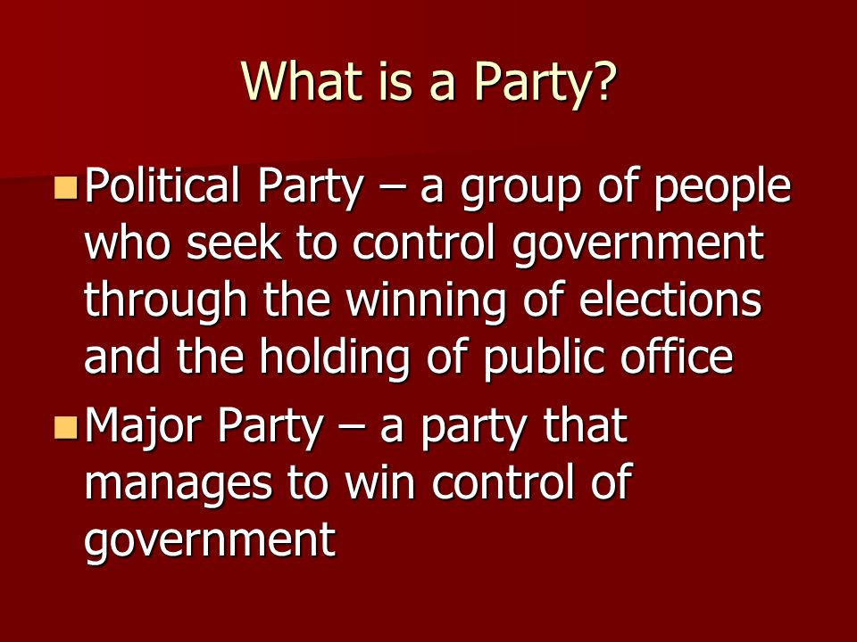 Political Parties and Ideology
