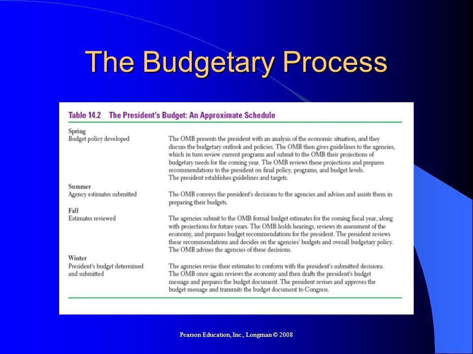 Pearson Education, Inc., Longman © 2008 The Budgetary Process