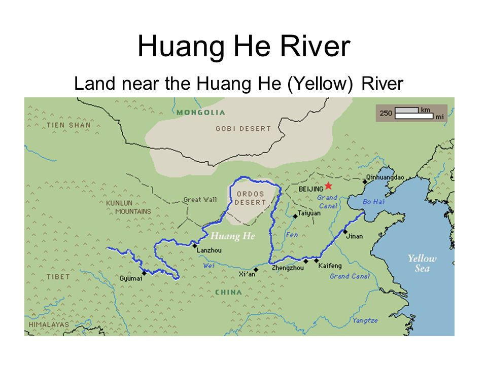 Huang He River Land near the Huang He (Yellow) River