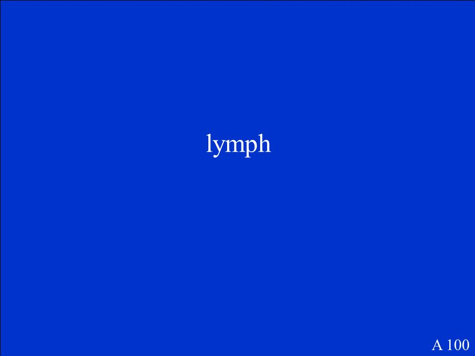 The Final Jeopardy Category is: Endocrine System Please record your wager. Click on screen to begin