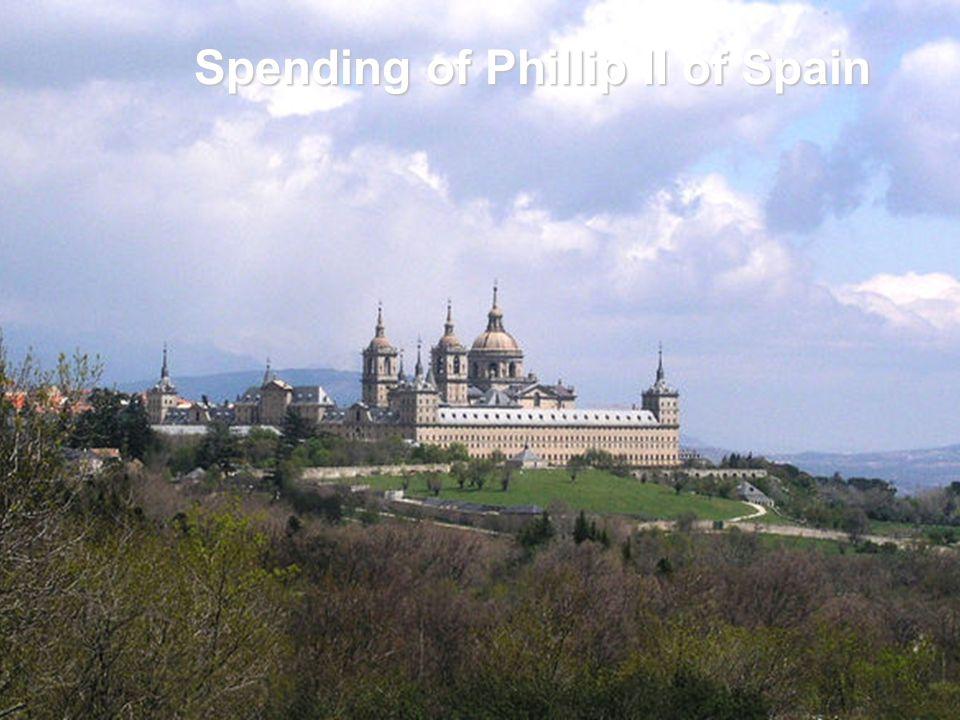 Spending of Phillip II of Spain