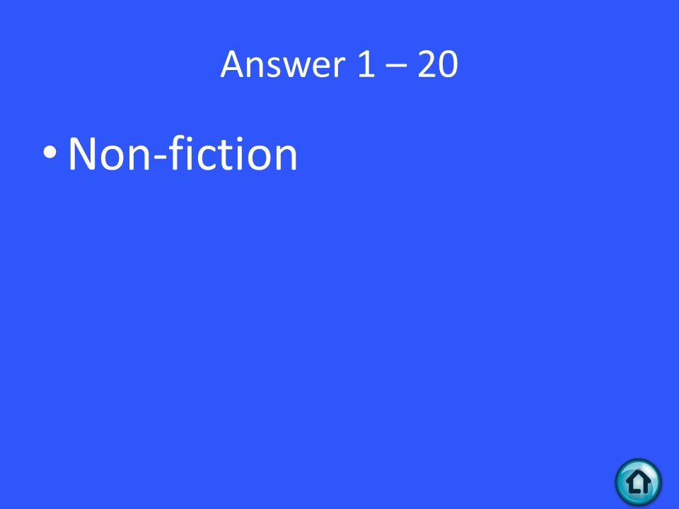 Answer 1 – 20 Non-fiction