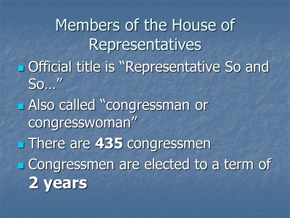 Bicameral Congress Our Congress is bicameral, meaning it has two houses Our Congress is bicameral, meaning it has two houses The larger house, which is supposedly the common mans house, is the House of Representatives The larger house, which is supposedly the common mans house, is the House of Representatives The smaller house, which is forthe elite of America is the Senate The smaller house, which is forthe elite of America is the Senate
