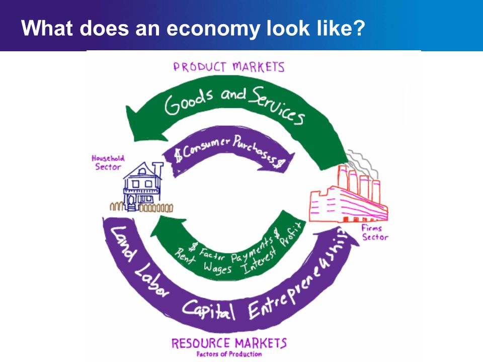 Chapter 2SectionMain Menu What does an economy look like?