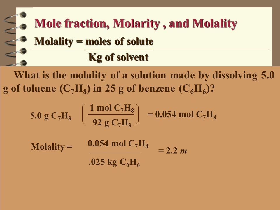 What is the vapor pressure of a solution made with 1 mol of Benzene and 2 mol of toluene at 20ºC and the mole fraction of the vapor.