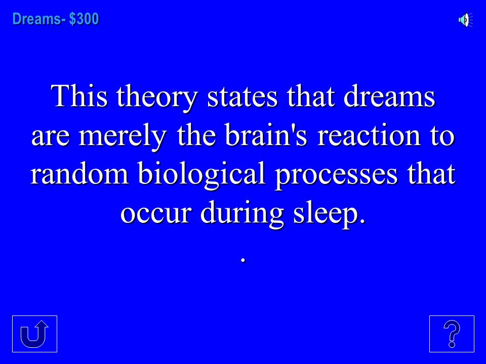 Dreams-$200 Freud idea of why we dream
