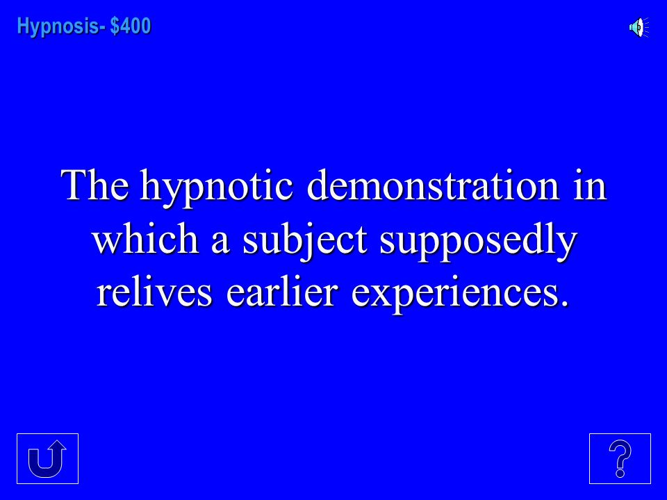 Hypnosis - $300 Narrow attention, increased fantasy, and increased passive relaxation are characteristics of this