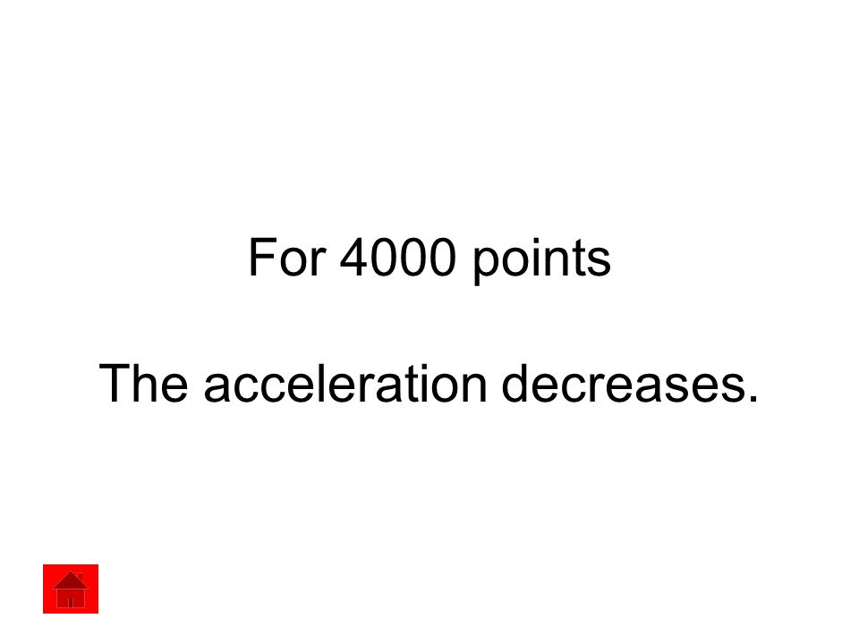 For 4000 points The acceleration decreases.