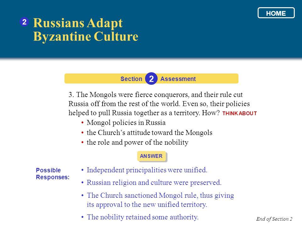 Russians Adapt Byzantine Culture 2 3.