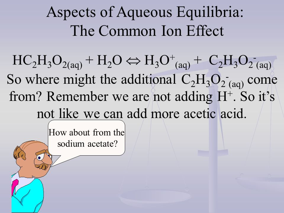 add 2 ml 10 M HCl to 1.8 x 10 -5 M HCl pH = 4.74 add 2 ml 10 M HCl to.1M HC 2 H 3 O 2 +.1M NaC 2 H 3 O 2 pH = 4.74.02 M HCl pH= 1.7 a drop of 3.04 to.12M HC 2 H 3 O 2 +.06M NaC 2 H 3 O 2 pH = 4.56 a drop of.18