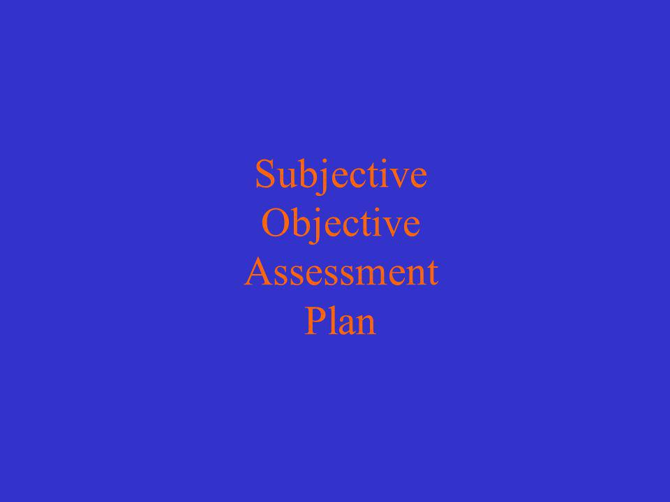 Subjective Objective Assessment Plan