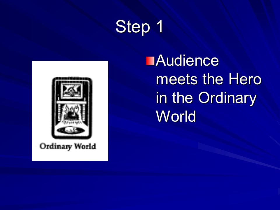 Audience meets the Hero in the Ordinary World Step 1