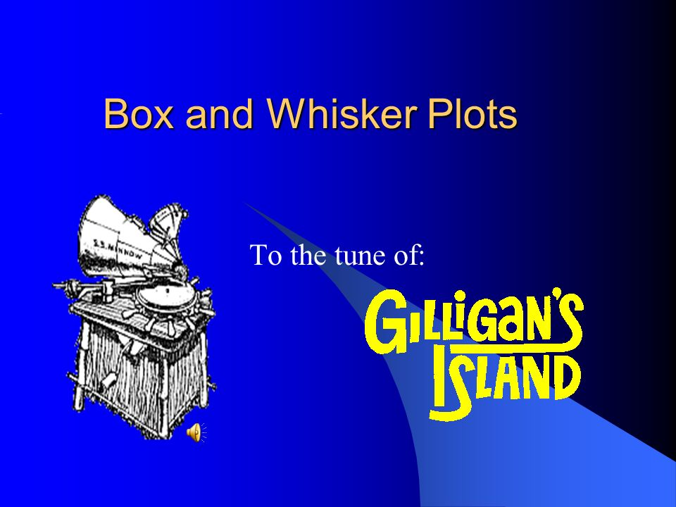 Box and Whisker Plots To the tune of: