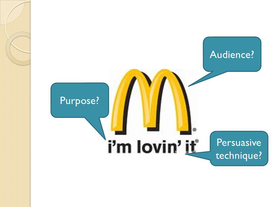 Audience? Purpose?